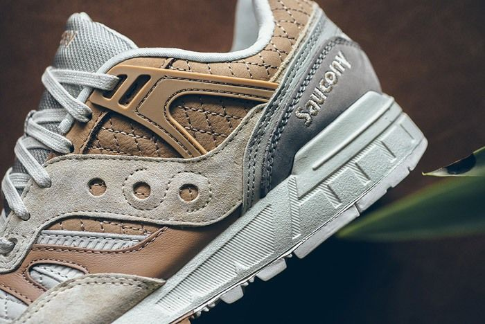 Saucony Grid Sd Quilted Tan Grey 4