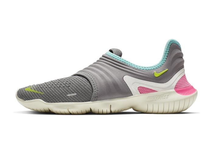 Nike Free Run Flyknit 3 Grey Lateral