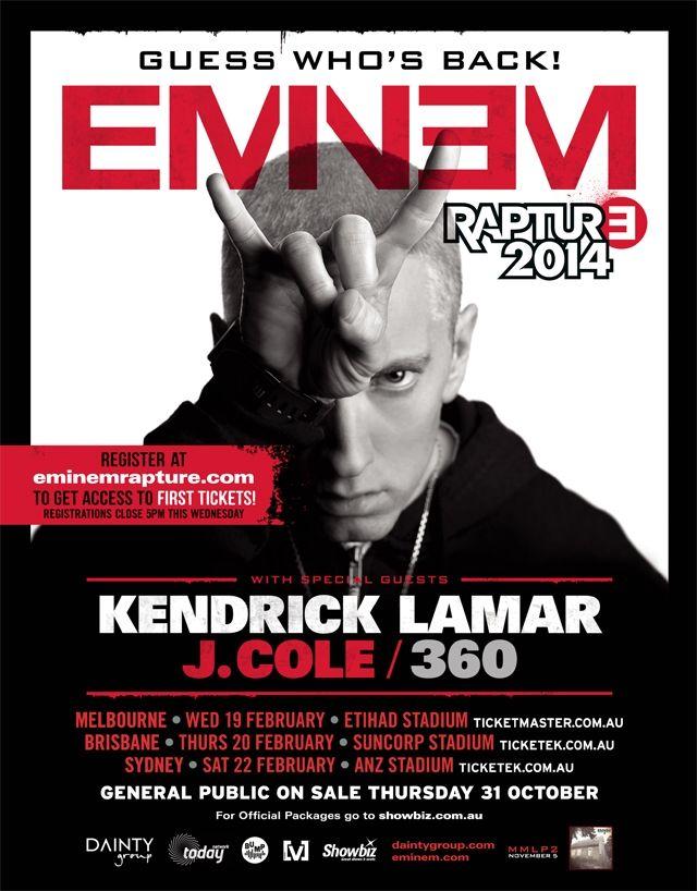 Eminem Australia Tour
