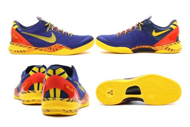 Nike Kobe 8 Deep Royal Yellow Details