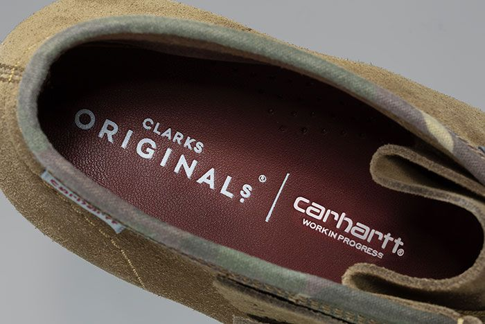 Carhartt Clarks Wallabee Olive Insole