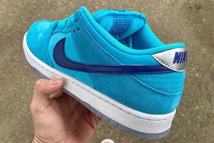 Nike Sb Dunk Low Blue Furry Bq6817 400 Release Date 3 Leak