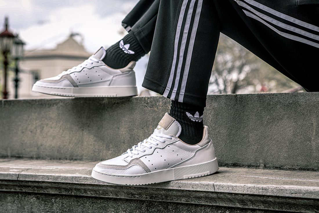 Adidas Supercourt On Foot Raised Foot