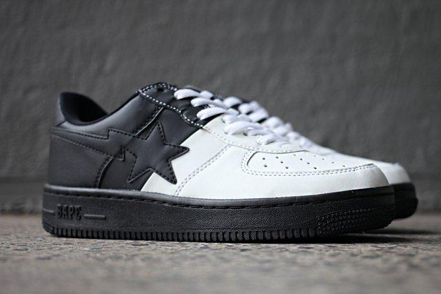Bapesta Black White 2