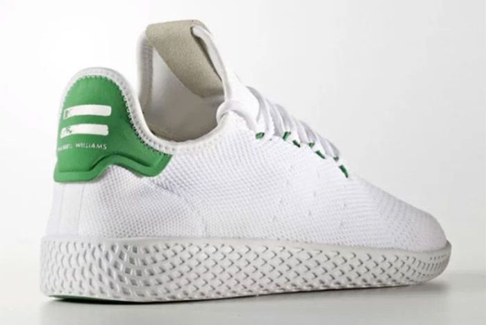 Pharrell Williams Adidas Tennis Hu White Green 6