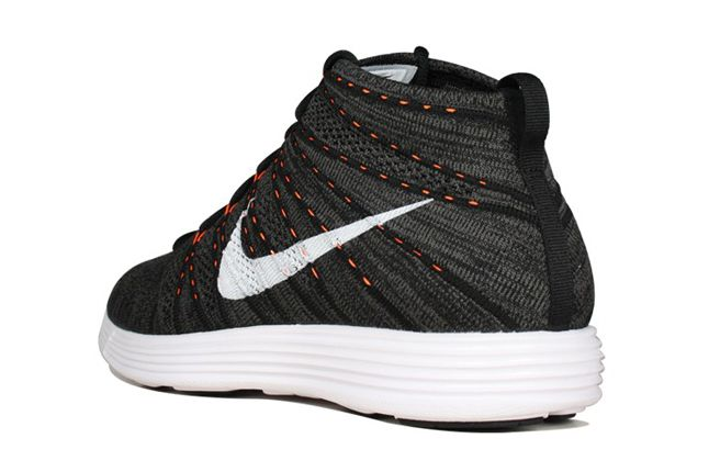 Nike Flyknit Chukka Orange Zest Heel Quarter 1