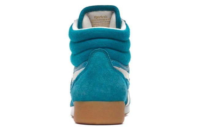 Reebok Freestylehi Suede Teal Heel Profile 1
