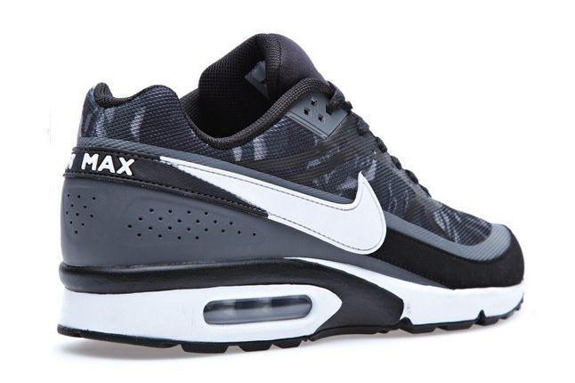 Nike Air Classic Bw Prm Tape Blk Wht Heel Quarter 1