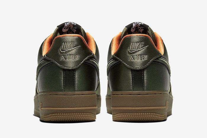 Nike Air Force 1 Low Quilted Olive Flight Jacket Cu6724 333 Heel