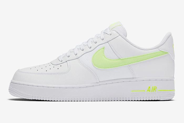 Nike Air Force 1 White Volt Lateral
