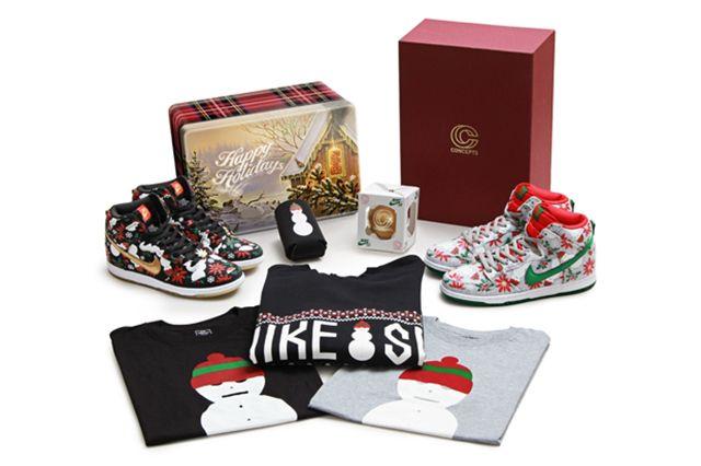 Concepts Nike Sb Dunk High Ugly Christmas Sweater 11