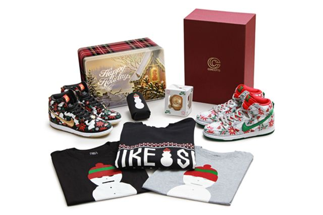 Concepts Nike Sb Dunk High Ugly Christmas Sweater 11