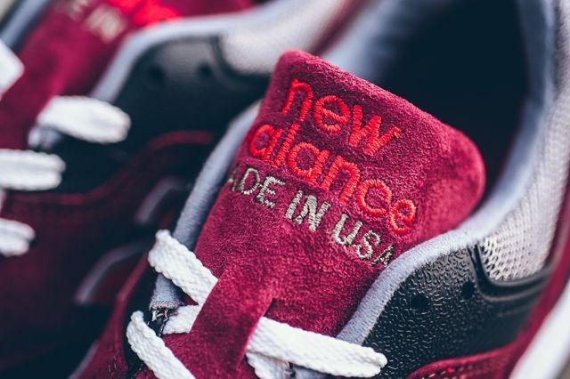 New Balance 997 Heritage Burgundy Grey Red 4