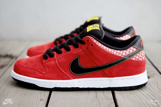 Nikesb Dunk Low Firecracker Pack Red Profile 1
