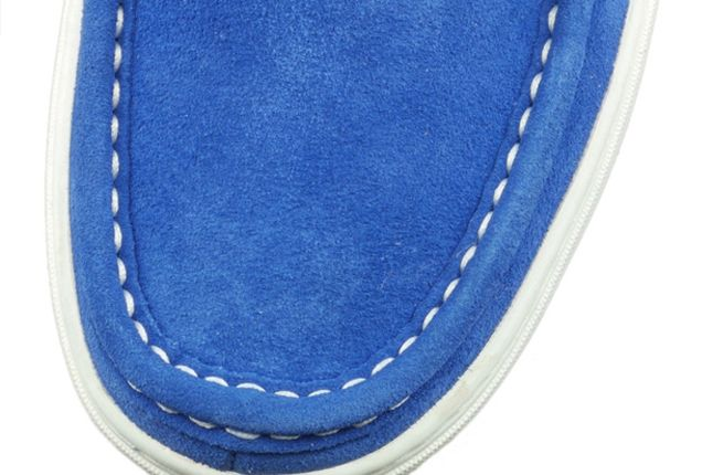Stussy Timberland Moc Toe Blue Toe Detail 1