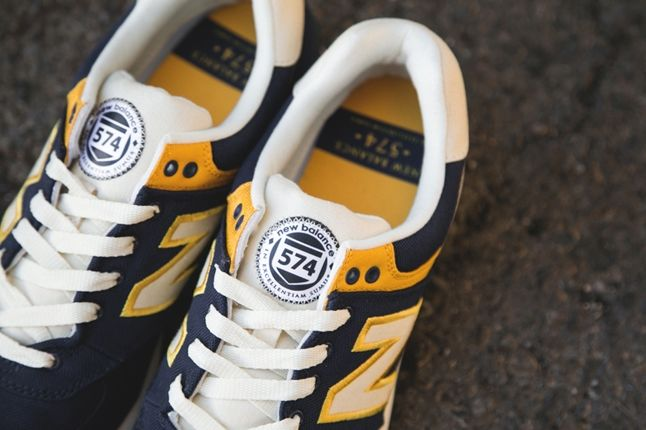 New Balance 574 Rugby Pack Yellow Navy 1