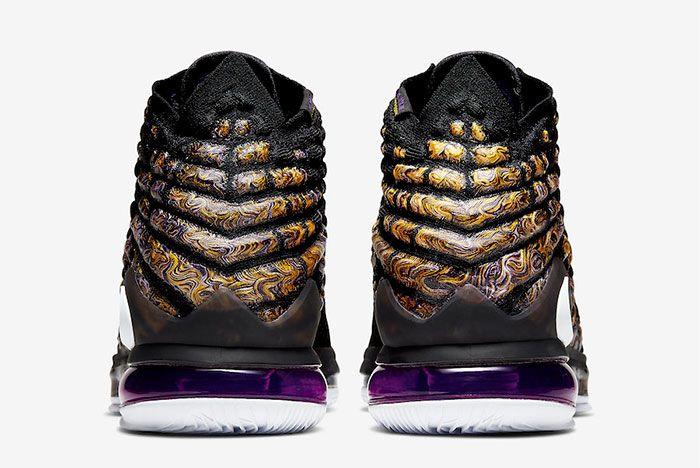 Nike Lebron 17 Lakers Heel