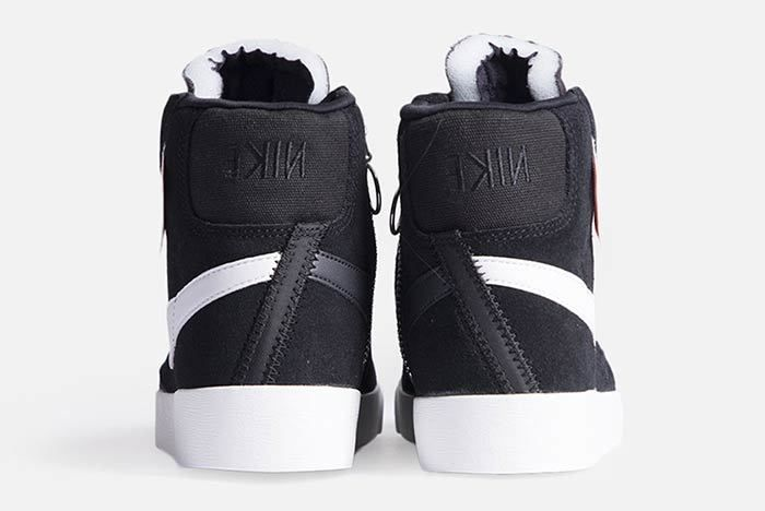 Nike Blazer Mid Rebel Womens Black Bq4022 001 2