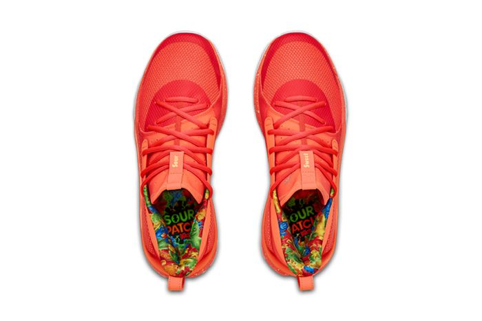 Sour Patch Kids Under Armour Curry 7 Peach Release Date Insoles