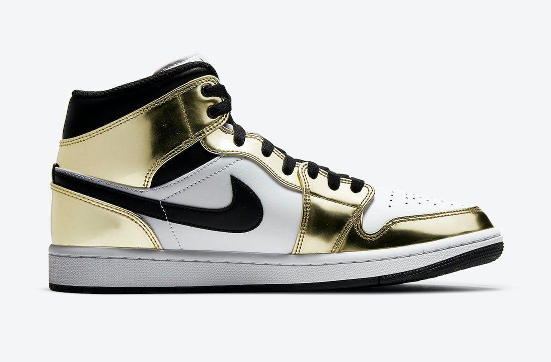 Air Jordan 1 Mid 'Metallic Gold'