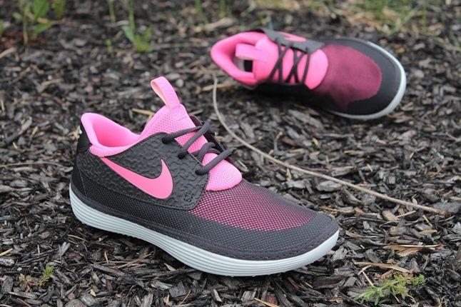 Nike Solarsoft Mocassin Black Pink Hero Profile 1