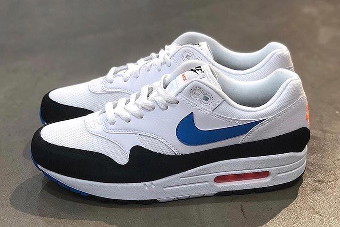 Nike Air Max 1 Ah8145 112 White Photo Blue Total Orange Left Side Shot