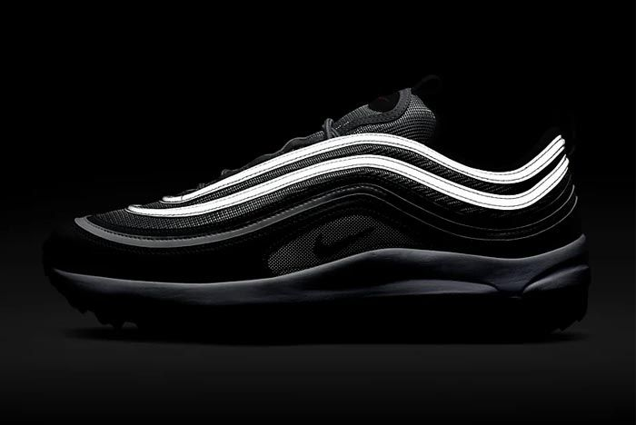 Nike Air Max 97 Golf Silver Bullet Lateral Dark