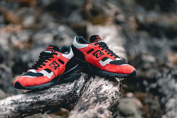 New Balance 1530 Lava Pack Red Angled Pair