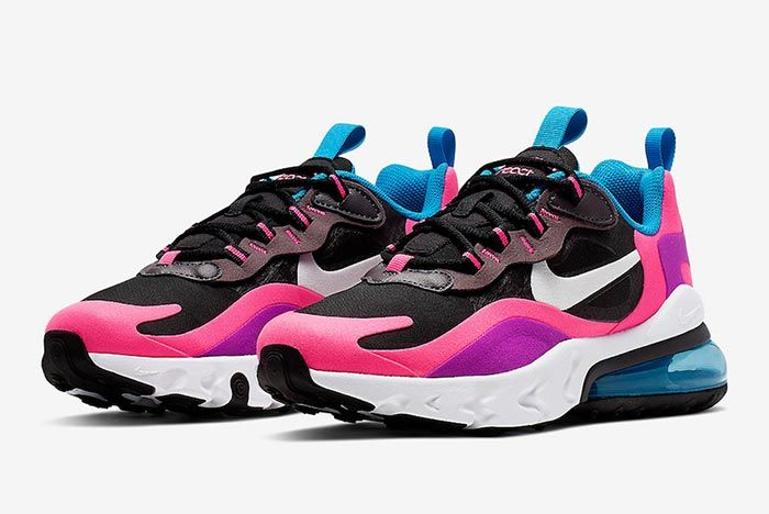 Nike Air Max 270 React Hyper Pink Bq0101 001 Three Quarter Lateral Side Shot