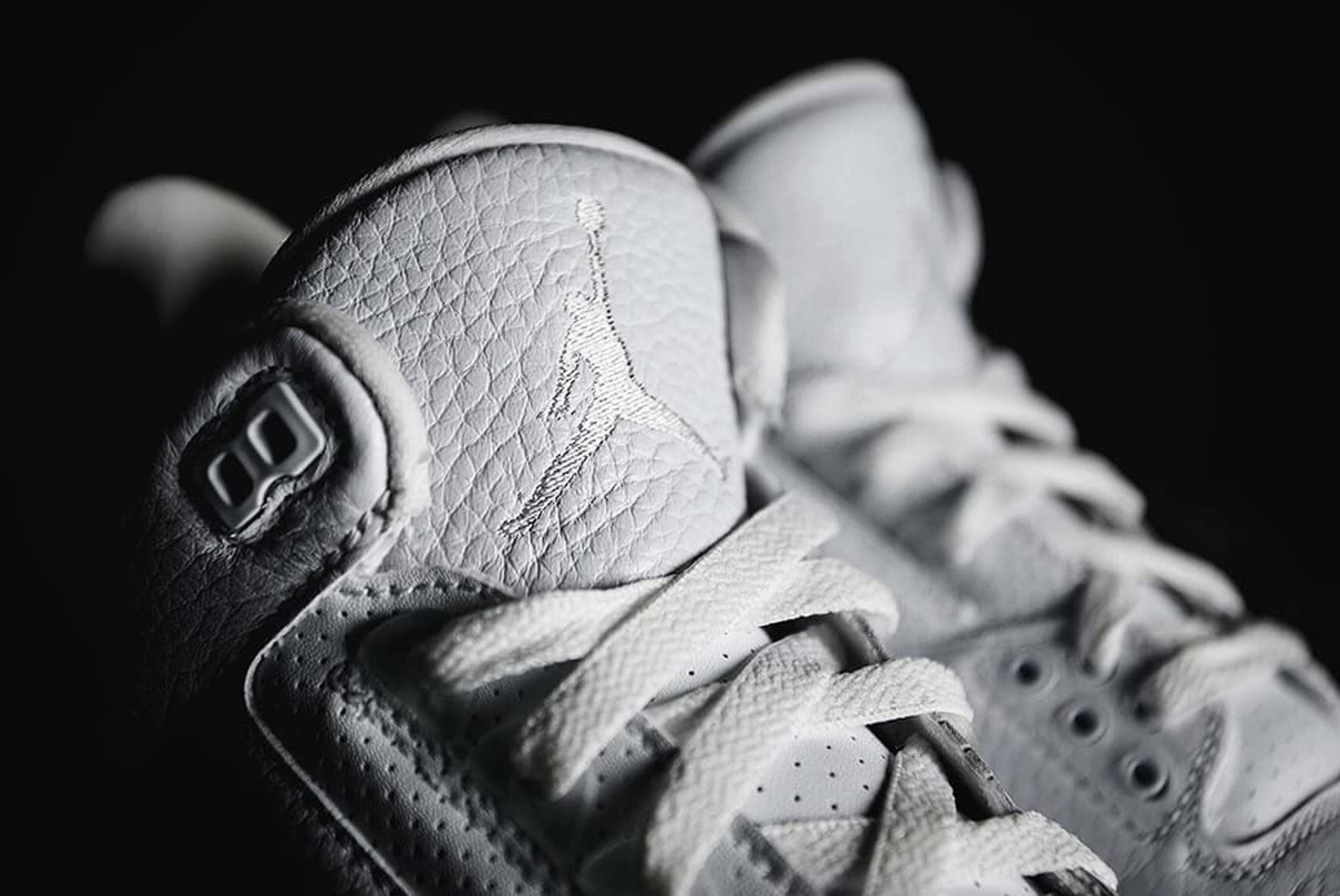 Air Jordan 3 Pure White Closer Look 2 Sneaker Freaker
