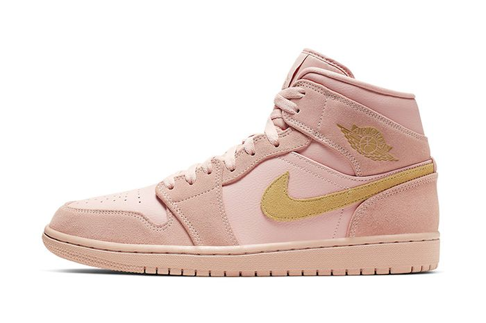 Air Jordan 1 Mid Coral Gold 852542 600 Release Date Lateral