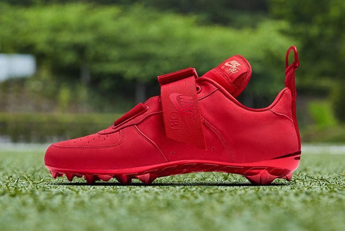 Nike Air Force 1 Utility Obj Cleat Red 1
