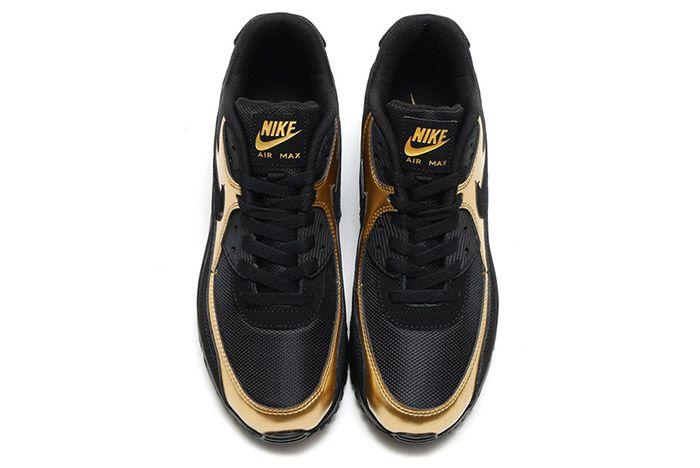 Nike Air Max 90 Black Metallic Gold 4