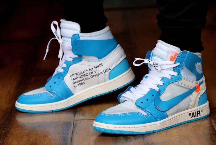 Off White Aj1 Unc On Foot 3