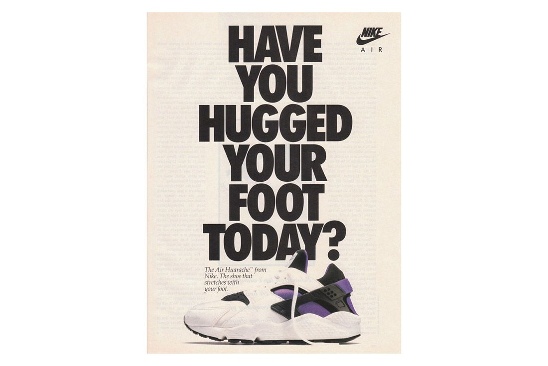 Material Matter Neoprene Nike Huarache Advertisement