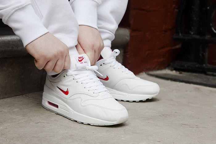 Nike Air Max 1 Jewel White Red 3