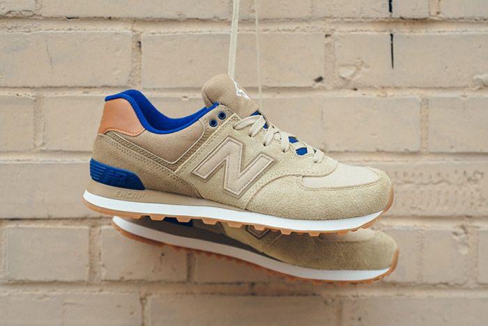 New Balance 574 Ml574 Ned Tan Blue 1