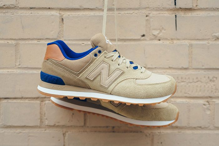 New Balance 574 Ml574 Ned Tan Blue 1