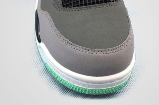 Air Jordan 4 Green Glow Toebox 1