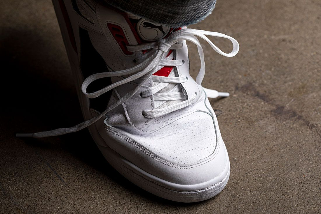 Tightly Laced Sneakers Creasing Toebox