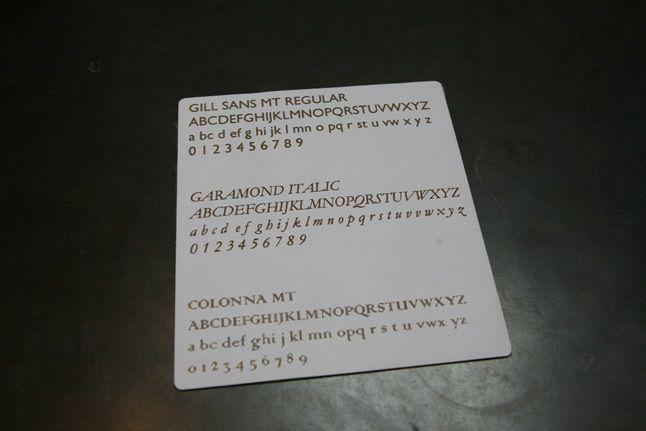 Bespoke Font Sheet 1