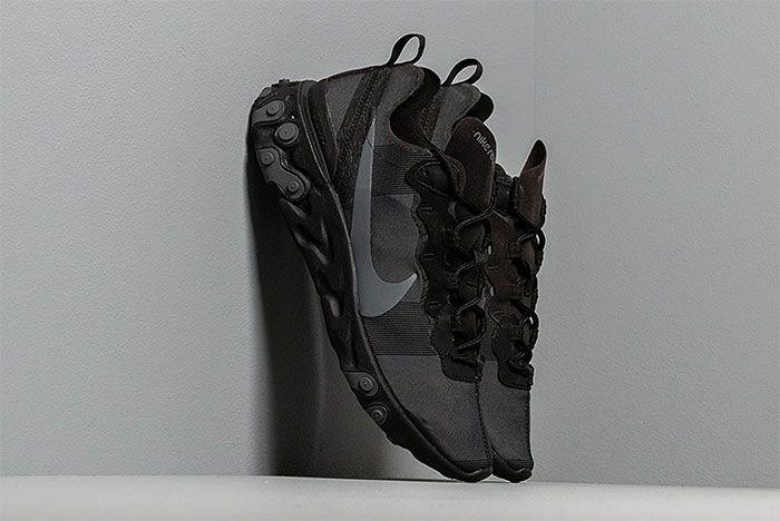 Triple Black Nike React Element 55 Back To School