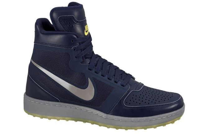 Nike Trainer Clean Sweep Midnight Navy Medium Grey True Yellow 1