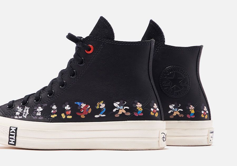 Kith Disney Converse Chuck 70 Mickey Mouse Release Date 12Black Hero Shot