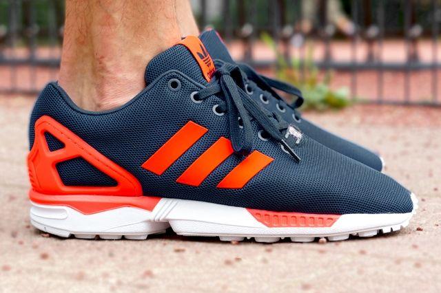 Adidas Originals Zx Flux Dark Blue Solar Red 7