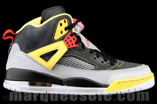 Jordan Spizike 3M Reflective Yellow Black Side Profile 1