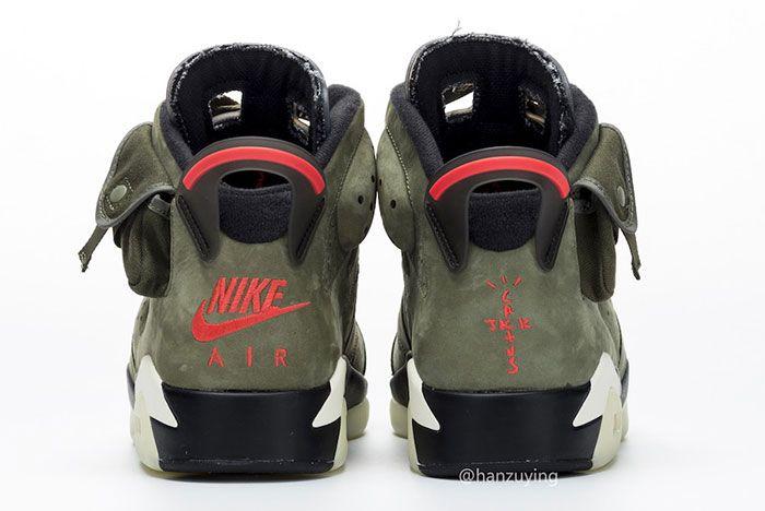 Travis Scott Air Jordan 6 Heel
