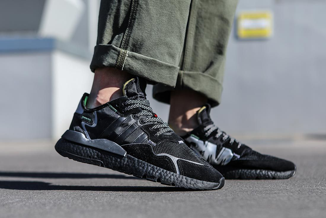 On Adidas Nite Jogger Black Right