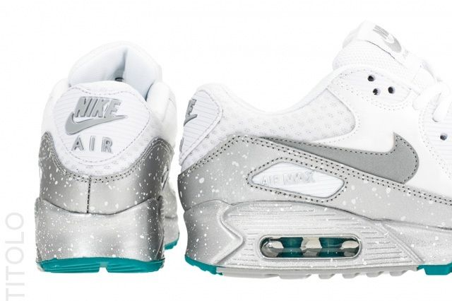 Nike Air Max 90 Metallic Silver Turquoise 2