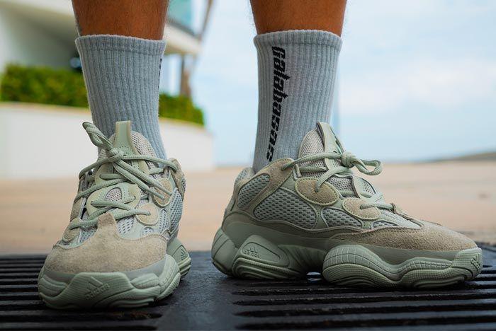 Yeezy 500 Salt On Foot Release